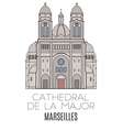 Cathedral De La Major Marseilles vector image vector image