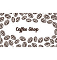 coffee beans background in vintage style hand vector image vector image