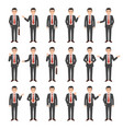 collection of a young cartoon style businessman vector image