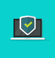 Computer protection icon isolated flat