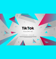 creative trends tik tok background with geometric vector image vector image