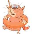 Cute Cat Cartoon Character vector image