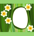 decorative frame with flower vector image vector image