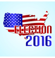 election 2016 in the united states of america with vector image