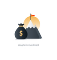 Finances and investment management budget planning vector image vector image