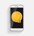 flat modern design concept of bitcoin vector image vector image