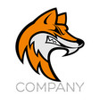 fox mascot logo vector image
