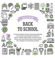 frame school education color icons vector image