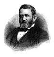 general ulysses s grant vintage vector image vector image