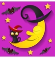 Halloween background with moon in the sky vector image vector image