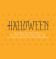 halloween theme greeting card collection vector image vector image