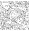 hand drawn heart cat balloon cloud vector image vector image