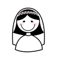 happy wife isolated icon design vector image