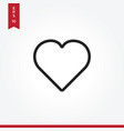 Heart icon in modern style for web site and