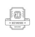 Hipster Wine Logo vector image