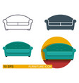 icons of the sofa vector image vector image