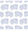 japanese chinese clouds seamless pattern vector image