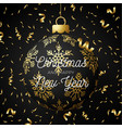 luxury christmas and new year square greeting vector image vector image