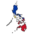 Map in colors of Philippines vector image vector image