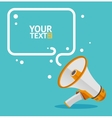 Megaphone text bubble card vector image vector image
