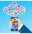Mobile services cloud vector image