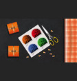 packing gifts for halloween concept design vector image vector image