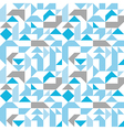 Pastel seamless pattern with geometric figures vector image