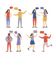 people communicate with each other vector image vector image