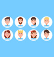 persons collection icon set vector image