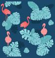 pink flamingo cute african bird seamless vector image
