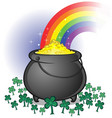 pot gold cartoon vector image vector image