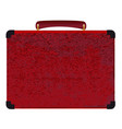 red small suitcase on a white background vector image vector image
