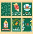 school banners set vector image vector image