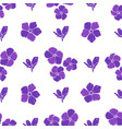 seamless background with purple flowers vector image