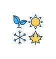 seasons rgb color icon vector image vector image