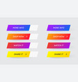 set of modern gradient app or game buttons trendy vector image vector image