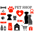set of pet icons vector image