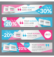 Set with banners for web site for sale vector image vector image