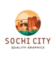 sochi light sunny city sea sun vector image vector image