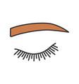 straight eyebrow shape color icon vector image vector image