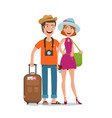 travel journey honeymoon trip concept people vector image vector image