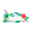 tropical frame and flowers vector image vector image