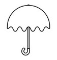umbrella protection rain icon vector image