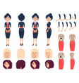 various templates of female suits and hairstyles vector image vector image
