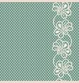vintage flower lace border on blue background vector image