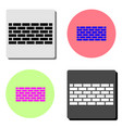 wall brick flat icon vector image vector image