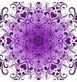 White-violet valentine round pattern vector image vector image