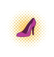 Women shoes icon comics style vector image vector image