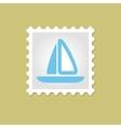 Sailboat stamp vector image