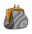 drawing money purse safe finance icon vector image